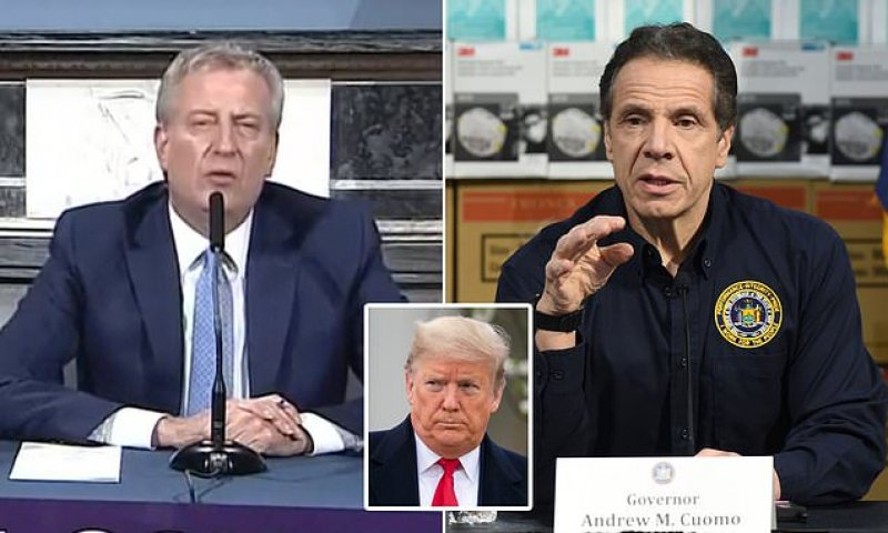 De Blasio announces Trump has sent 4,000 ventilators to New York   Daily Mail Online