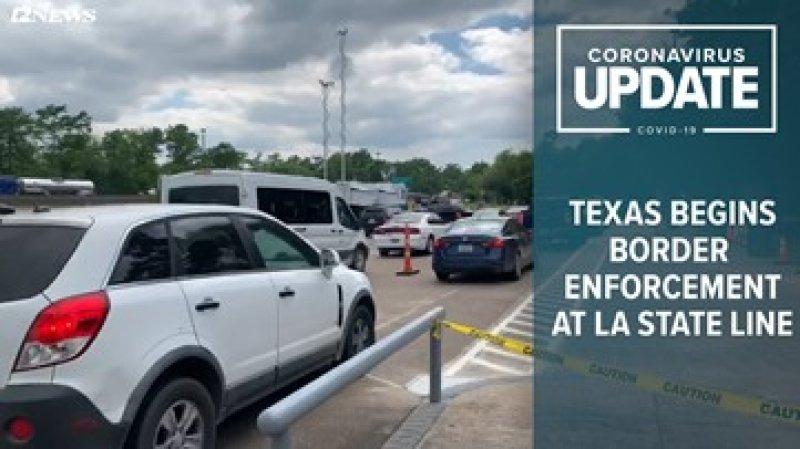 COVID-19 checkpoints begin at Texas-Louisiana border   12newsnow.com